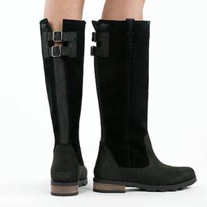 Sorel Emelie Black Suede and Leather Boots NWOT